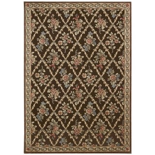 kathy ireland Villa Retreat Americana Wash Estate Chocolate Area Rug by Nourison (3'6 x 5'6)