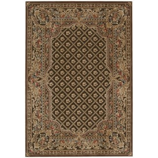 kathy ireland Villa Retreat Euro Century Garden Room Chocolate Area Rug by Nourison (5'3 x 7'5)