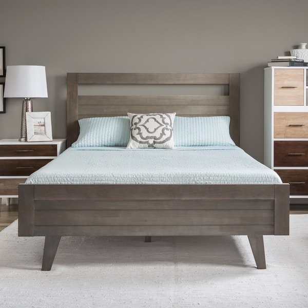 Queen Size Bed: Madrid Light Charcoal Queen-size Bed