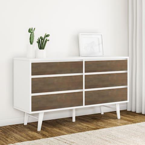 Carson Carrington Madrid Light Charcoal 6-drawer Dresser