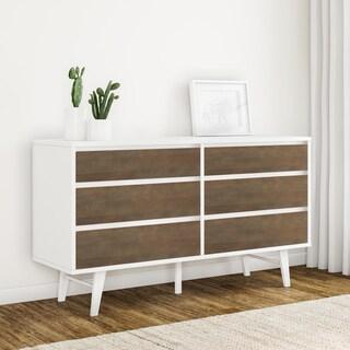 Carson Carrington Madrid Light Charcoal 6 Drawer Dresser
