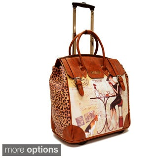 Nicole Lee Special Print Rolling 16-inch Laptop Travel Bag
