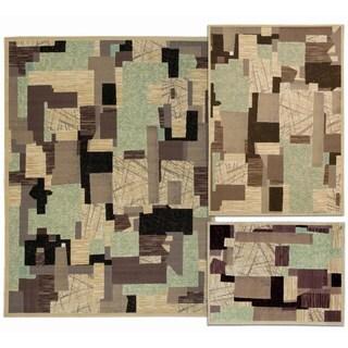 Nourison Patchwork Collection Beige 3-piece Rug Set (3'11 x 5'3) (5'3 x 7'3) (7'10 x 10'6)