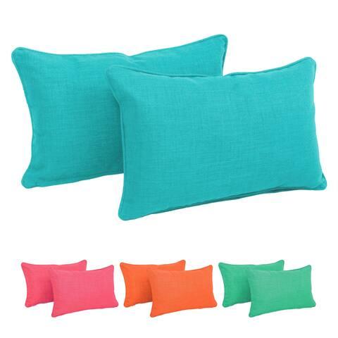 Blazing Needles Indoor/Outdoor Lumbar Support Pillow (Set of 2)