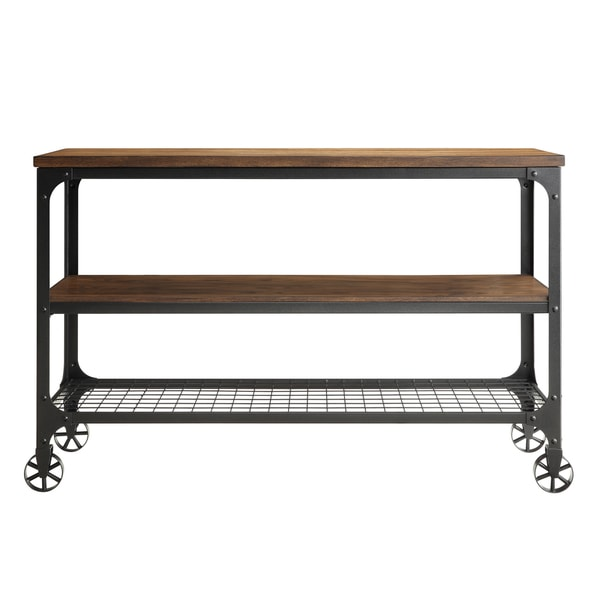 Marvelous Nelson Industrial Modern Rustic Console Sofa Table TV Stand By INSPIRE Q  Classic   Free Shipping Today   Overstock.com   15867330