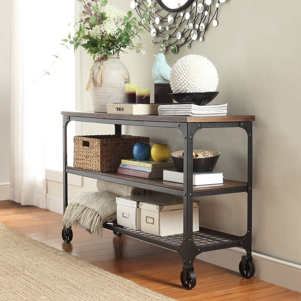 Nelson Modern Rustic Console Sofa Table Tv Stand By Inspire Q Clic