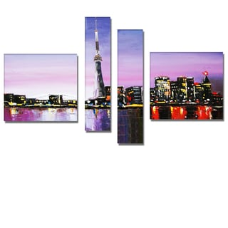 'Toronto City Spatula' 4-piece Cityscape Painting