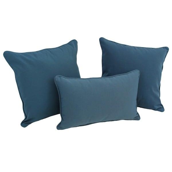 Twill Throw Pillows (Set of 3)