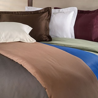 Superior Wrinkle Resistant 600 Thread Count Cotton Blend Duvet Cover Set