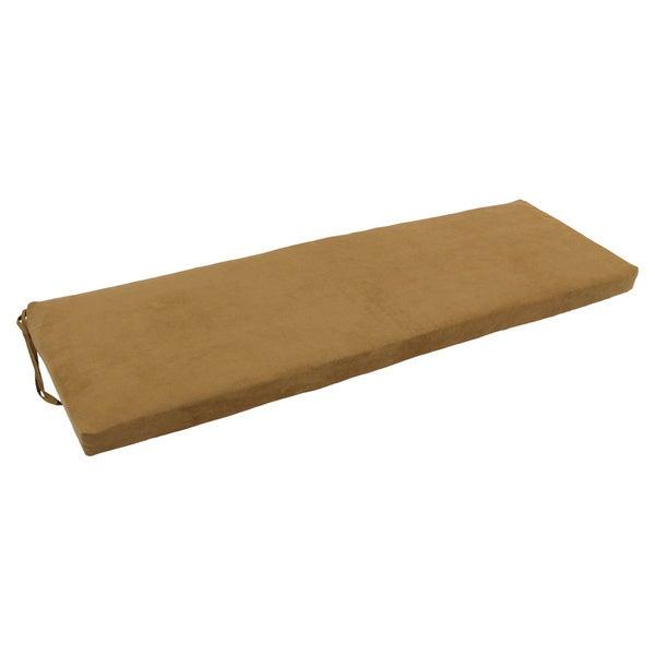 Blazing Needles 60-inch Microsuede Indoor Bench Cushion - Free ...