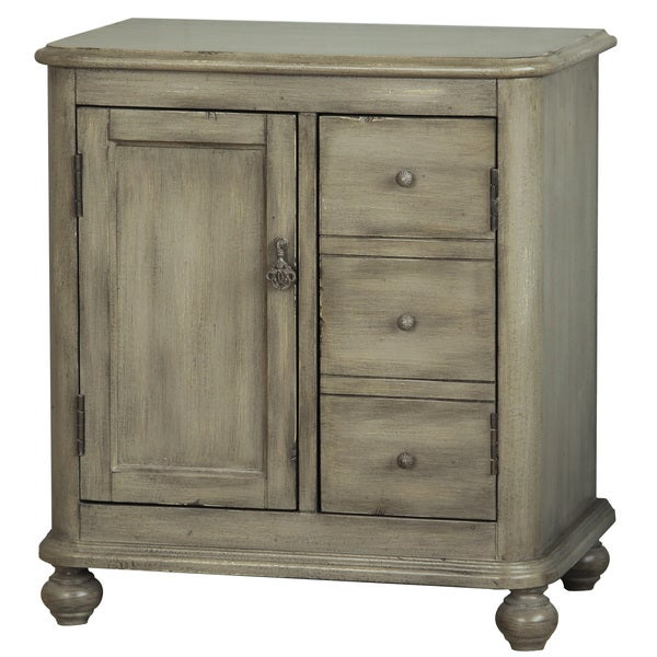 Accent Cabinet In Front Of Green Wall: Shop Hand Painted Distressed Green/Grey Finish Accent