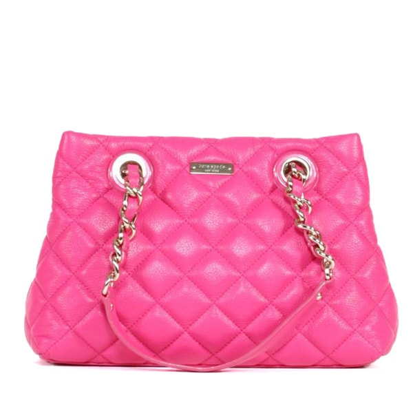 Kate Spade 'Maryanne Gold Coast' Small Zinniapink Quilted Leather Satchel