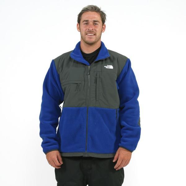 08a6d371f Shop The North Face Men's 'Denali' Bolt Blue/ Grey Jacket - Free ...
