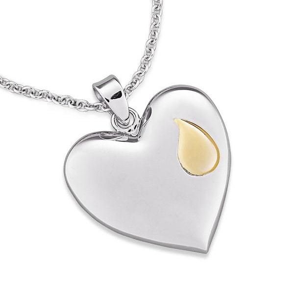 Sterling silver memorial heart necklace free shipping today sterling silver memorial heart necklace aloadofball Image collections