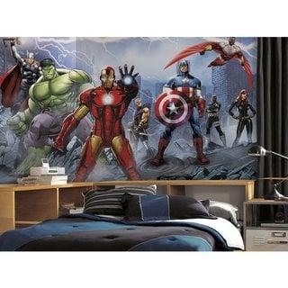 Avengers Assemble Wall Mural (6'x10.5')