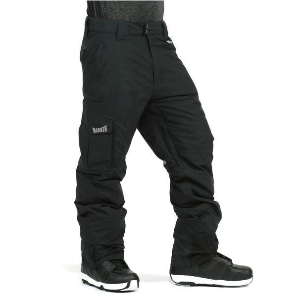 Marker Men's 'Pop' Black Cargo Shell Snowboard Pants
