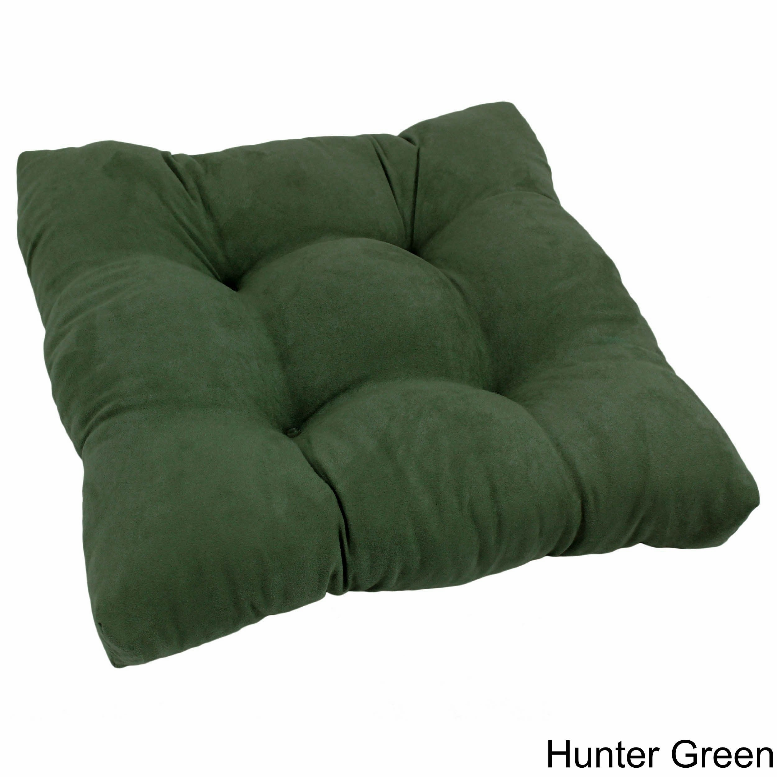 square tufted microsuede chair cushion hunter green ebay