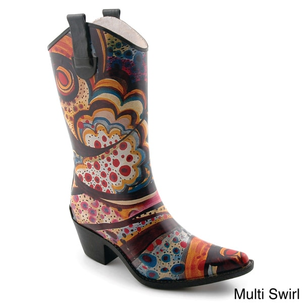 Corkys Women's 'Rodeo' Printed Western Rain Boots - Free Shipping ...