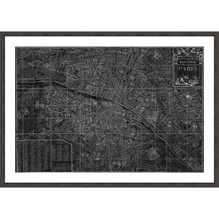 Oliver Gal 'Nouveau Map de Paris 1780' Framed Print Art