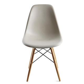 Lucas Beige Wood Grain Accent Chairs (Set of 2)