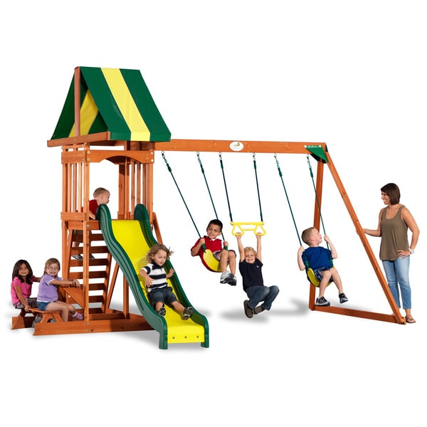 Backyard Discovery Swingsets shop backyard discovery prestige wooden swingset - free shipping