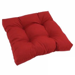 Square Tufted Twill Chair Cushion