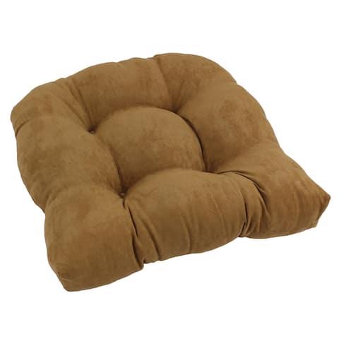 Blazing Needles 19-inch U-Shaped Microsuede Chair Cushion