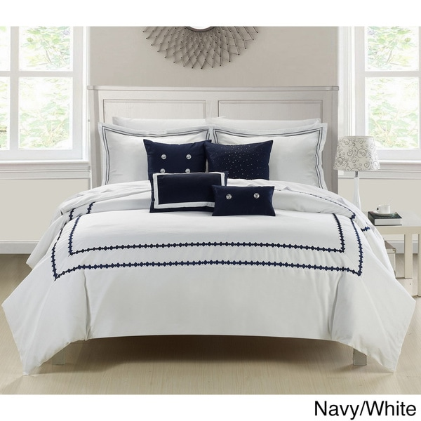 Overstrock Com: Mandalay 7-piece Embroidered Comforter Set