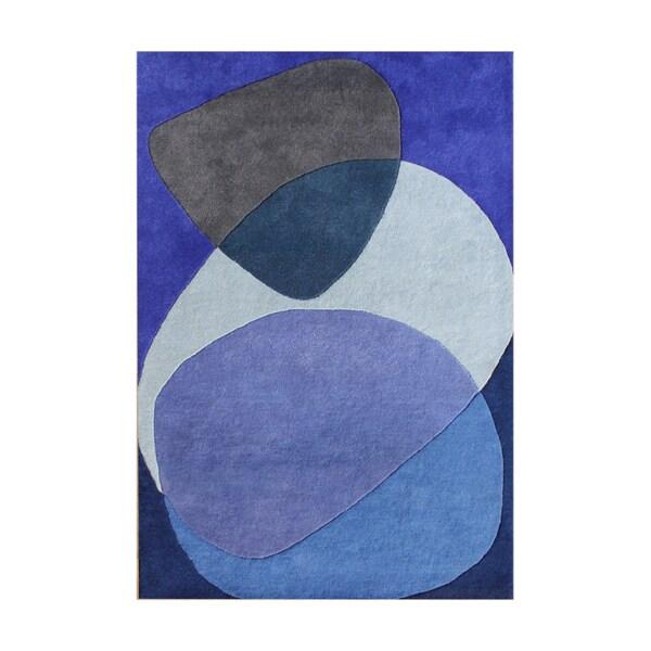 Alliyah Handmade Dazzling Blue New Zealand Blend Wool Rug (9' x 12')