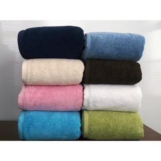 "Salbakos Cambridge 40x80"" Plush 100-percent Turkish Cotton Jumbo Bath Sheet (Multiple Colors)"