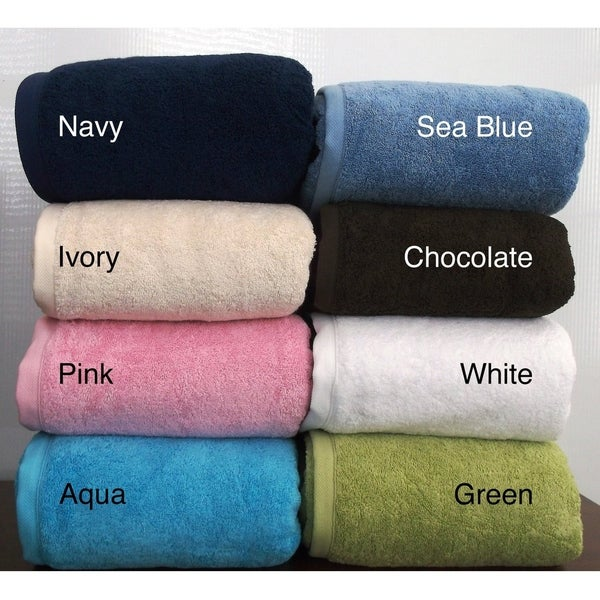 b4ae8a8d03 Royal Turkish Towel Cambridge Plush 100-percent Turkish Cotton Jumbo Bath  Sheet (Multiple Colors