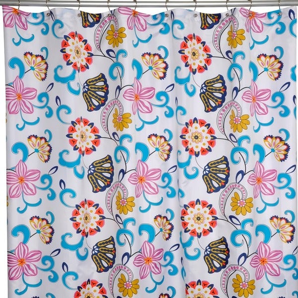 Bohemia Floral Shower Curtain - 15867923 - Overstock.com Shopping . - Curtains Ideas » Kokopelli Shower Curtain - Inspiring Pictures Of