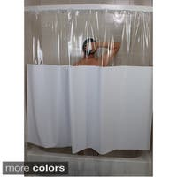 SneakPeek Solid Color w/ Clear Vinyl Shower Curtain