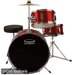 Union UJ3 3-Piece Junior Drum Set with Hardware, Cymbal and Throne (Option: Red)|https://ak1.ostkcdn.com/images/products/8597733/Union-UJ3-3-Piece-Junior-Drum-Set-with-Hardware-Cymbal-and-Throne-P15867947.jpg?impolicy=medium