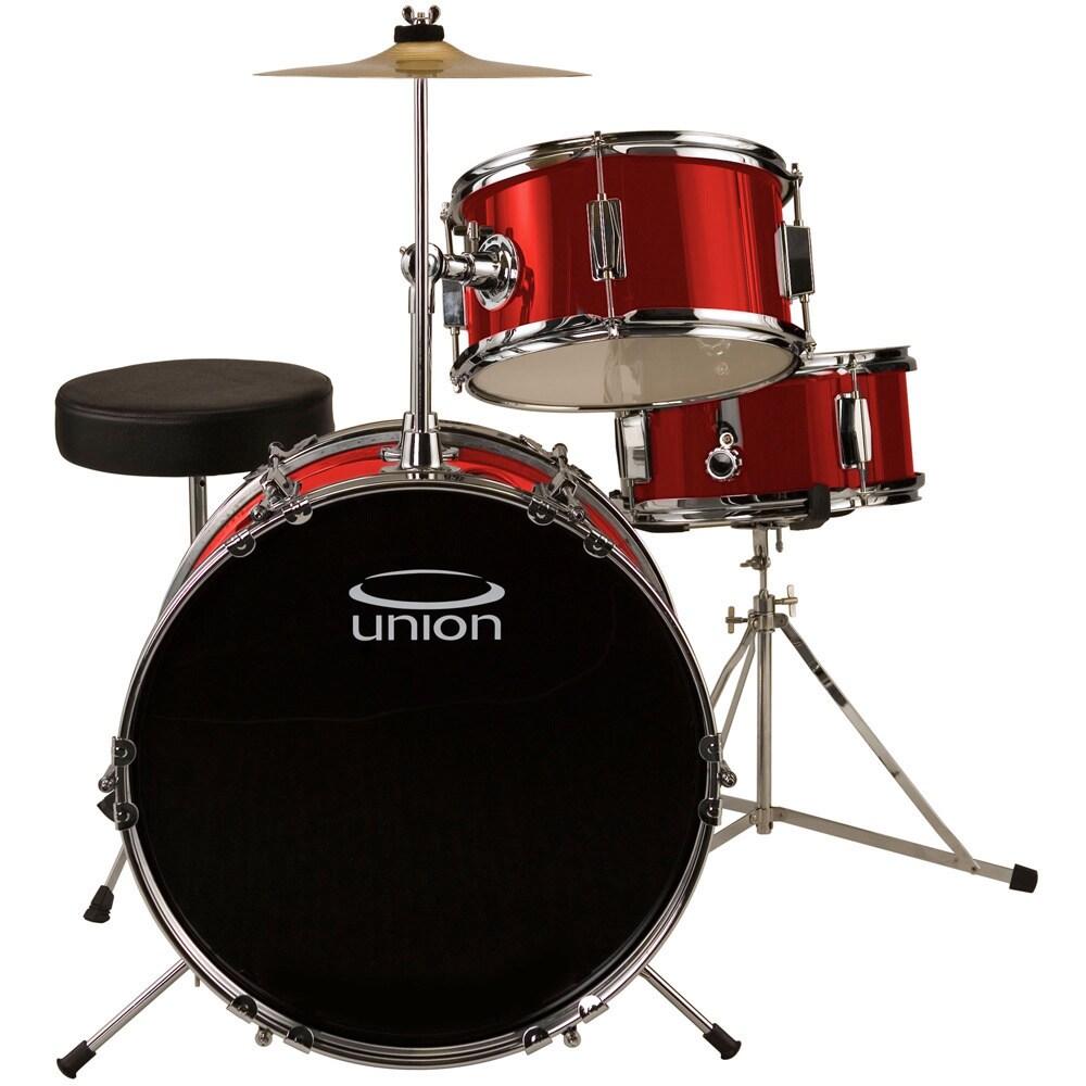 UNION UJ3 3-Piece Junior Drum Set with Hardware, Cymbal a...