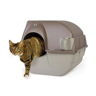 Omega Paw Roll'n Clean Large Self-Cleaning Litter Box
