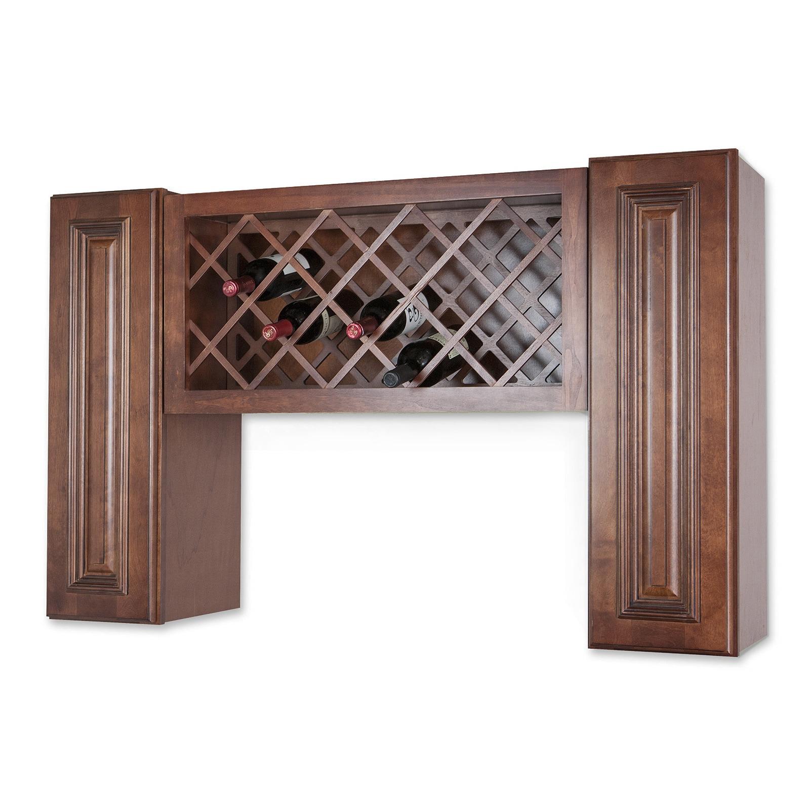 Wall Mount Wine Rack Cabinet Unit (Wine Rack), Brown