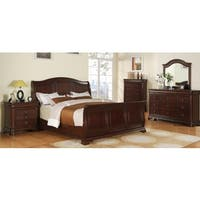 Gracewood Hollow Bujalski Cherry Sleigh 5-piece Bedroom Set