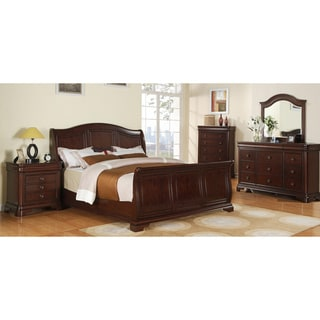 Gracewood Hollow Bujalski Cherry Sleigh 5-piece Bedroom Set