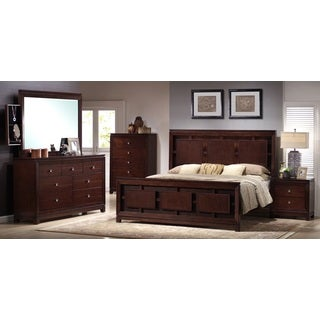 Picket House Lorrand 5-piece Cherry Finish Bedroom Set