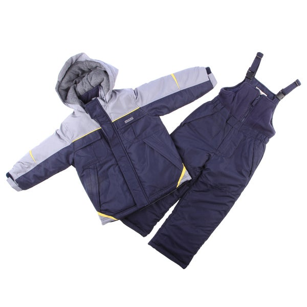 Osh Kosh Boys 4-7 Grey/ Multi Snowsuit and Jacket Set