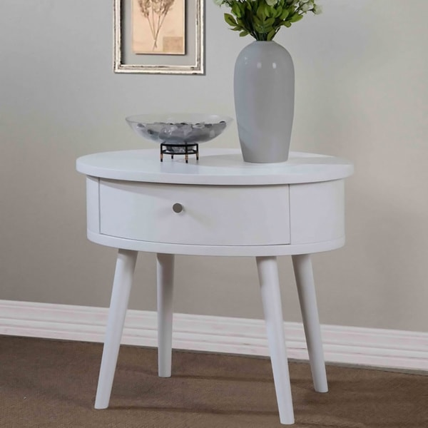 Blake 1 Drawer Matte White Nightstand Free Shipping