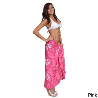 1 World Sarongs Women's Smoked Hibiscus Sarong (Indonesia)