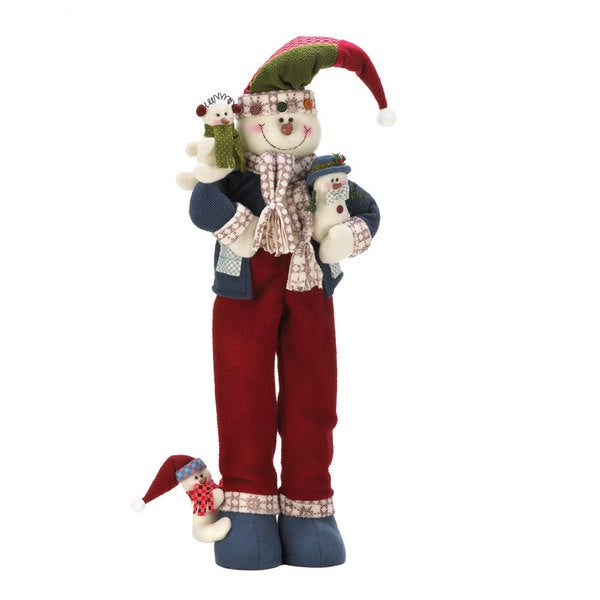 Plush Merry Snowman Decor