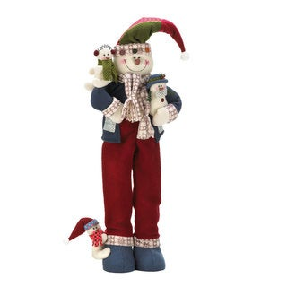 Plush Merry Snowman Decor