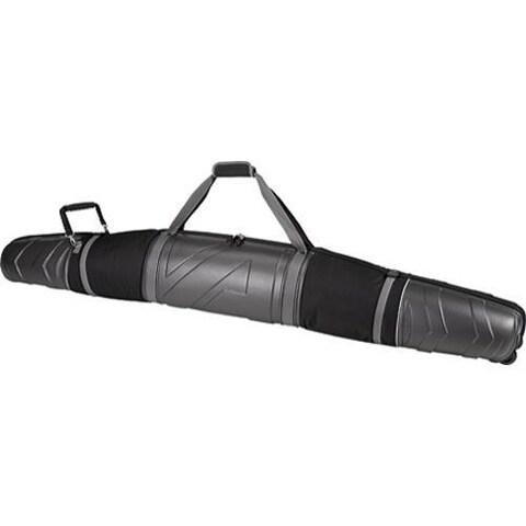 Athalon Molded Wheeling Double Ski Bag - 185cm Silver/Black