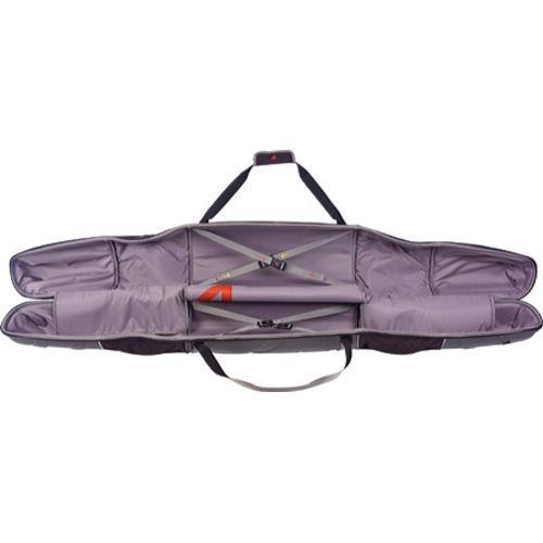 Athalon Molded Wheeling Double Ski Bag - 185cm Silver/Black - Thumbnail 1