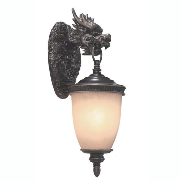 Dragon 1 Light Outdoor Wall In Oil Rubbed Bronze