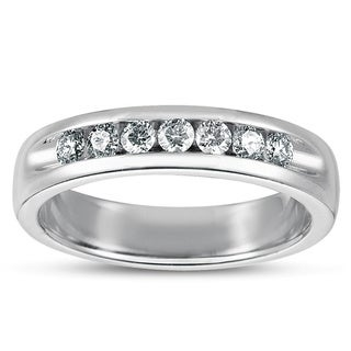 Eloquence Men's 1/2 TWD Platinum Diamond Channel Band