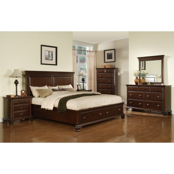 Amazing Picket House Furnishings Brinley Cherry Storage 5 Piece Bedroom Set Ideas